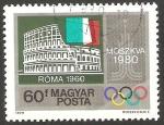 Stamps : Europe : Hungary :  Olimpiadas Moscu 80, Roma 1960