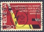Sellos de Europa - Suiza -  Campeonato mundial de Hockey sobre Hielo Geneve Lausanne marzo 1961