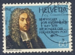 Sellos de Europa - Suiza -  Beat Fischer Von Reichenbach  1641-1698