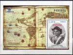 Sellos de Europa - España -  ESPAÑA 2006 4234 Sello Nuevo HB Cent. Muerte Cristobal Colon Retrato y Reprodución Mapa Mundi ** MNH