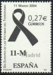 Stamps : Europe : Spain :  ESPAÑA 2004 4073 Sello Nuevo Lazo Negro Victimas del Terrorismo 11 Marzo **