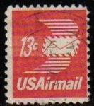 Sellos de America - Estados Unidos -  USA 1973 Michel 1125C Sello Serie Basica Air Mail usado