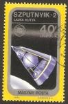 Stamps : Europe : Hungary :  Nave Szputnyik 2
