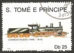 Sellos del Mundo : Africa : Santo_Tomé_y_Principe : ferrocarril ruso