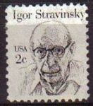 Stamps United States -  USA 1981 Scott 1845 Sello Compositor y Director Orquesta Ígor Fiódorovich Stravinski usado