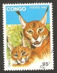 Stamps Africa - Republic of the Congo -  fauna, caracal