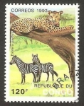 Stamps Africa - Republic of the Congo -  fauna, pantera parda