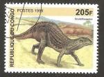 Stamps Republic of the Congo -  animal prehistórico, scutellosaurus