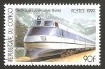 Stamps : Africa : Republic_of_the_Congo :  locomotora eléctrica, italiana