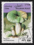 Sellos del Mundo : Asia : Afganistán : SETAS-HONGOS: 1.100.012,00-Russula virescens