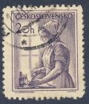 Stamps Czechoslovakia -  enfermera