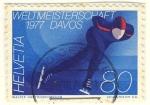 Sellos de Europa - Suiza -  Weltmeisterschaft  1977 Davos