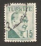 Sellos de Asia - Turquía -  mustafa kehal ataturk