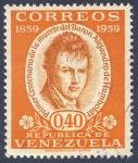 Stamps of the world : Venezuela :  Primer centenario de la muerte del Baron Alejandro de Humboldt 1859-1959