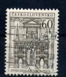 Stamps Czechoslovakia -  frontal de edificio