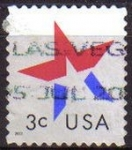Sellos de America - Estados Unidos -  USA 2002 Scott 3613 Sello Estrella Star usado