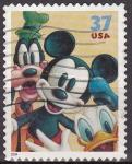 Sellos del Mundo : America : Estados_Unidos : USA 2004 Scott3865 Sello Disney Mickey, Goofy y Pato Donald usado