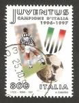 Stamps Italy -  juventus, campeona de Italia de fútbol 1996/1997