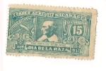 Stamps America - Nicaragua -  Fray Bartolome de las Casas- Dia de la raza