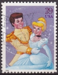 Stamps United States -  USA 2006 Sello Disney Cenicienta usado 39c
