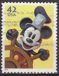 Sellos del Mundo : America : Estados_Unidos : USA 2008 Sello Disney Mickey Mouse Marinero usado 42c