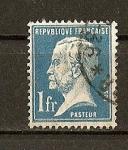 Stamps France -  Efigie de Pasteur.