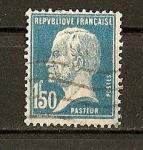 Sellos de Europa - Francia -  Efigie de Pasteur.
