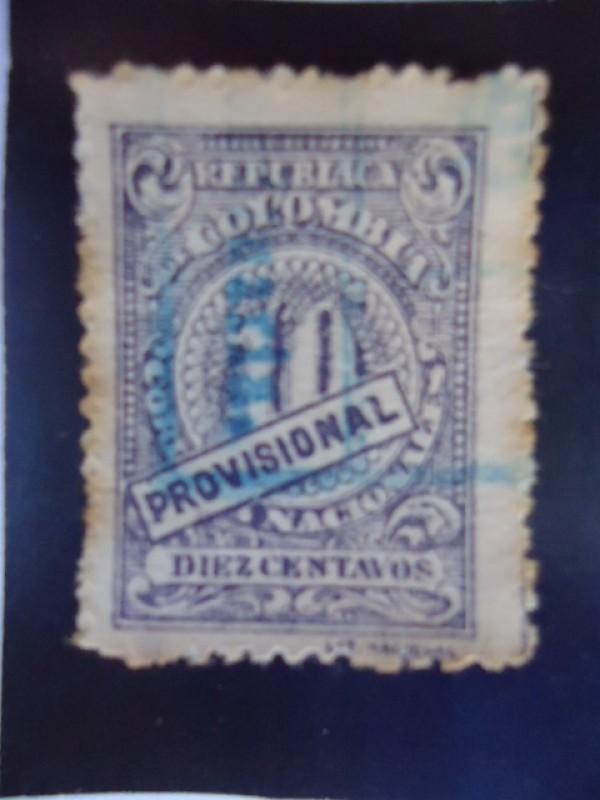 República de Colombia : Diez Centavos.(Provicional)