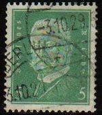 DEUTSCHES REICH 1931 Scott368 Sello Presidente Paul Von Hindenburg Alemania Michel455