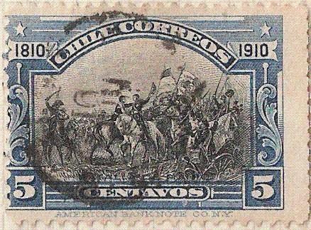 """ABRAZO DE MAIPU / 1910 """"CENTENARIO DE LA INDEPENDENCIA NACIONAL"""""""