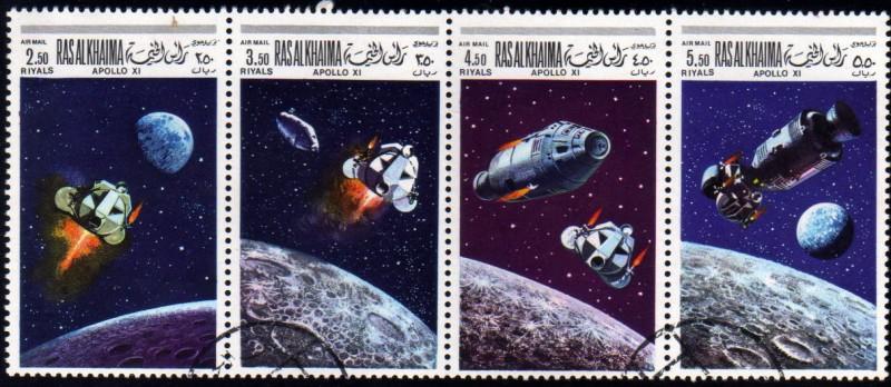 Apolo 11 acoplamiento del modulo de mando Columbia y modulo lunar Eagle