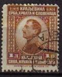 Sellos del Mundo : Europa : Yugoslavia : YUGOSLAVIA 1923 Scott 22 Sello Rey Alexander Kraljevina Srba, Hrvata i Slovenaca usado