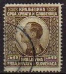 Sellos del Mundo : Europa : Yugoslavia : YUGOSLAVIA 1924 Scott 30 Sello Rey Alexander Kraljevina Srba, Hrvata i Slovenaca usado