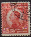 Sellos del Mundo : Europa : Yugoslavia : YUGOSLAVIA 1924 Scott 31 Sello Rey Alexander Kraljevina Srba, Hrvata i Slovenaca usado