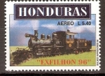 Sellos del Mundo : America : Honduras :  EXFILHON  96.  LOCOMOTORA