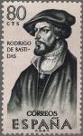 Sellos de Europa - España -  ESPAÑA 1961 1376 Sello Nuevo Forjadores de America Rodrigo de Bastidas (1475-1527)