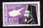 Sellos de America - Uruguay -  Visita Arzobispo Makarios Pres.de Chipre