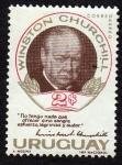 Sellos de America - Uruguay -  Winston Churchill