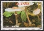 Sellos del Mundo : America : Guyana : SETAS-HONGOS: 1.162.013,00-Lepiota cristata