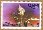 Sellos del Mundo : Asia : Bhután : Flores