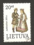 Sellos del Mundo : Europa : Lituania : traje típico, aukstaiciai