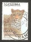 Sellos del Mundo : Africa : Namibia : un leopardo