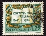Sellos del Mundo : Europa : Italia : 10 años Constitucion italiana