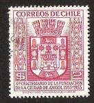 Sellos del Mundo : America : Chile : 4° CENTENARIO FUNDACION DE ANGOL