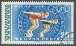 Sellos del Mundo : Europa : Hungría : Olimpiadas Mexico  1968  natacion
