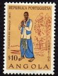 Sellos de Africa - Angola -  Flautista de Andulo