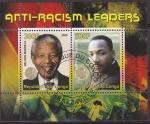 Sellos del Mundo : Africa : República_del_Congo : Congo 2008 Sello Nelson Mandela y Martin Luther King Anti Racismo