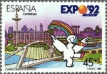 Sellos de Europa - España -  exposicion universal de sevilla