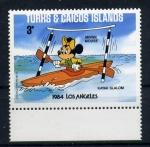 Sellos del Mundo : Europa : Islas_Turcas_y_Caicos : Olimpiadas de Los Angeles