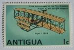 Sellos del Mundo : America : Antigua_y_Barbuda : 75 aniversario primer vuelo por los hermanos wright